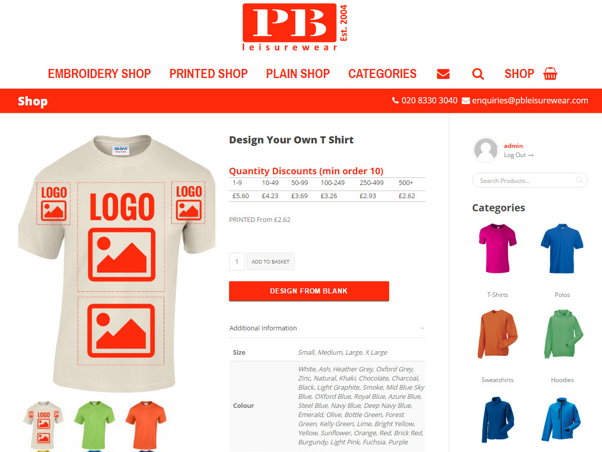 An image of our t-shirt designer software