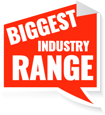 An image saying the biggest industry range