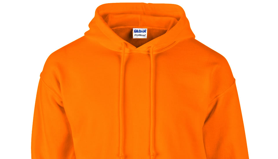 An image of an orange hoody