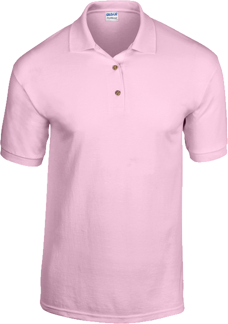 An image of a pink polo shirt