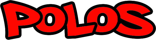 An image of a red polos icon