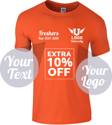 An image of an orange t-shirt