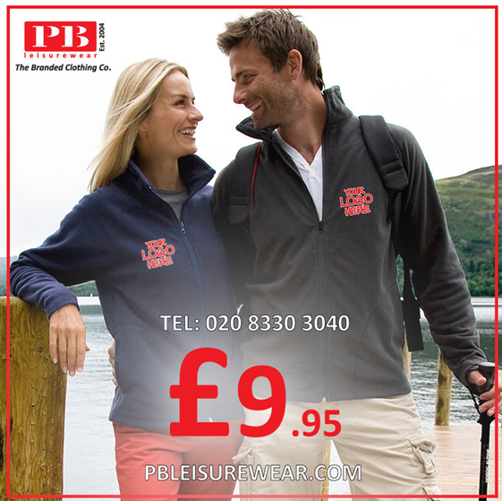An image advertising branded fleeces